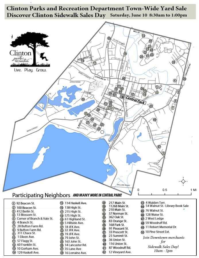 Yard Sale Map photo | Clinton Parks and Recreation Yard Sale Map on yard service, halloween map, garage sale map, wedding map, service map,
